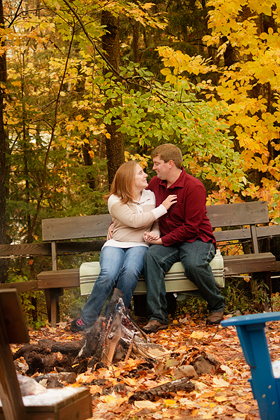 Fall Engagement Photos Wisconsin