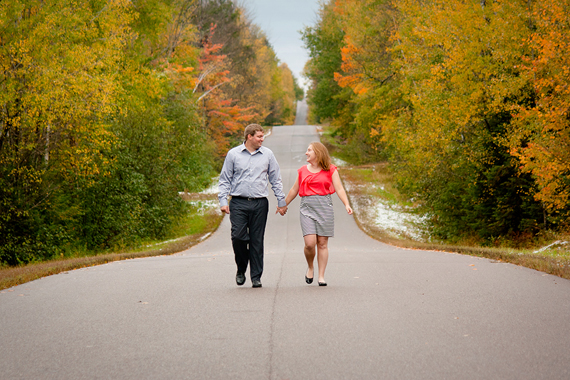 Fall Engagement Photos Eau Claire